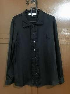 silky black longsleeves