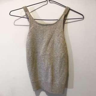 Kookai knitted crop top