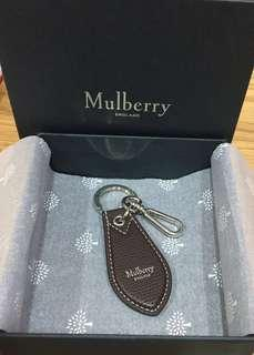 Authentic BN Mulberry Leather Tab Logo Keyring with original box