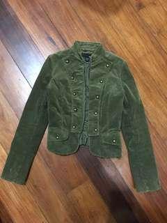 H&M Corduroy Jacket, (army green)