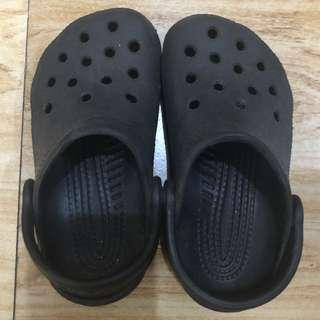 Crocs Black Sandals size 9