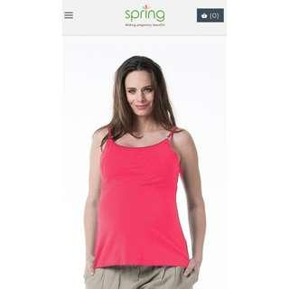 Prelove Spring Nursing Top - Coretta Nursing Camisole Raspberry