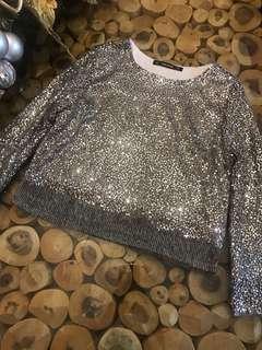 Zara sequin top