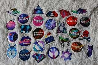 ASSORTED STICKERS • GLOSSY FINISH • GALAXY/ SPACE PACK