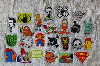 ASSORTED STICKERS • GLOSSY FINISH • CARTOON CHARACTERS • POP CULTURE