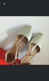 Flatshoes elips gold