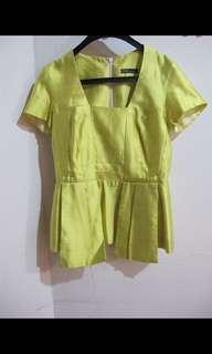 Blouse formal hijau lime