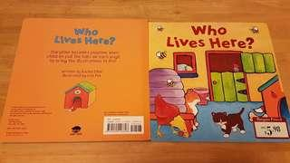 互動式兒童圖書(動物) - Who Lives Here?