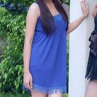 Blue Sleeveless Dress 💙