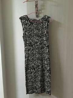 Size S animal print dress