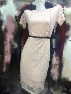 Peach Bangkok Lace Dress