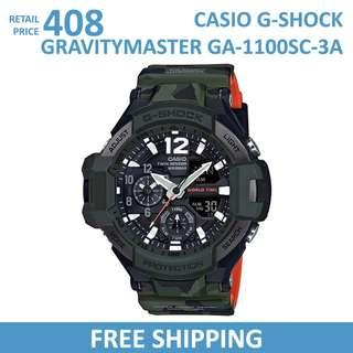 🚚 Casio G-Shock Gravitymaster GA1100SC-3A Men's Watch / GA-1100SC-3A / GA1100SC3A