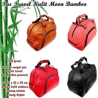 Tas travel kulit moon bamboo