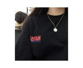 Instock Black Havism Ulzzang Shirt