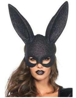 Black Bunny tall ear mask