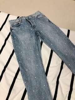 Monki Pearl Jeans Size W27