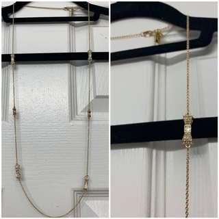 Kate Spade Gold Bow Necklace with Stones