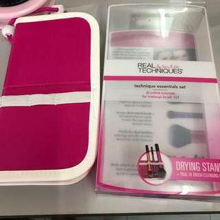 Real Techniques Drying Stand Makeup Brush Case/ Bag