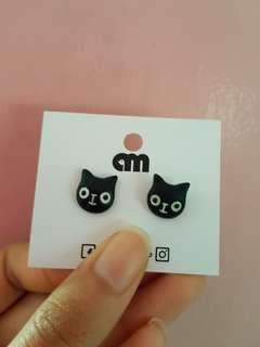 Brand New Cute Black Cat Stud Earrings
