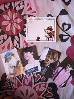 Kyungsoo Notepad & Sehun Kalmia Boy Fansite Photocards
