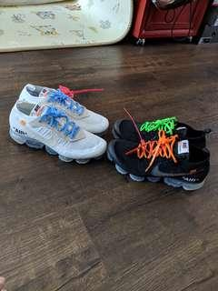Price Firm us10.5 Off White Vapormax White and Black offwhite
