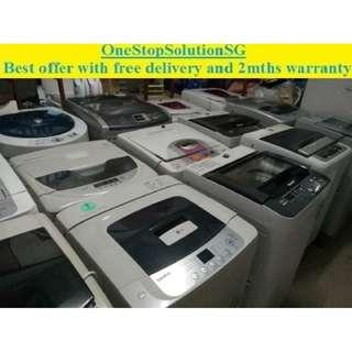 Used good condition washer / washing machine ($150 + free delivery & 2 months warranty)