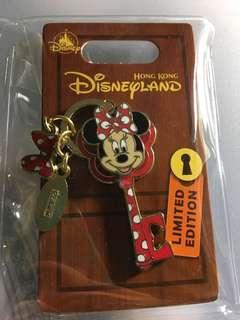 迪士尼徽章 襟章 Disney pin 米妮鎖匙