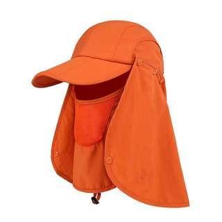 Summer sun protection cap