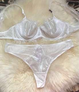 Brand new. Very sexy white lace lingerie from Victoria Secret