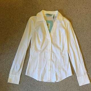 BNWT Guess by Marciano White Shirt Top, Size XS / 6-8