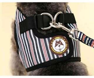 Dog apparel and leash, vest harness in XL size