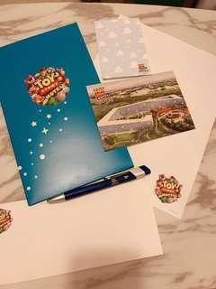 上海迪士尼玩具總動員酒店post卡信封一set