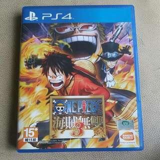 PS4 One Piece 海賊無雙3 中文版