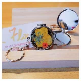 手提花花鏡盒鑰匙扣 🌸 The floral portable mirror keychain 🌸
