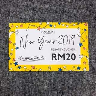 L'occitane New Year Voucher
