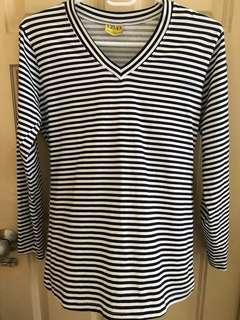 Long Sleeve Stripes Shirt