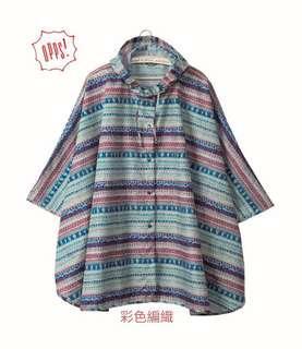 🚚 彩色編織*高質感傘型輕薄雨衣 《日本HEMIN S》