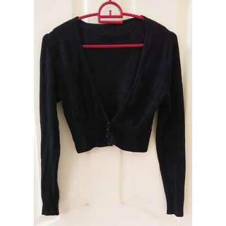 USED Black Cardigan