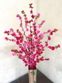 Chinese New Year flowers with vase