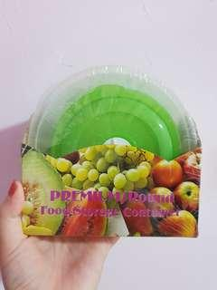 Premium Round Food Storage Container Microwave Freezer