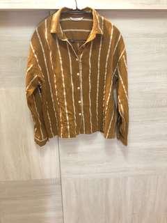 🚚 MeierQ 復古薑黃條紋襯衫