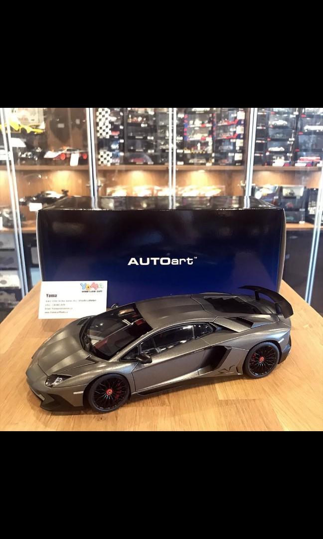 Sold 1 18 Autoart Lamborghini Lp750 4 Sv In Titans Grey Toys