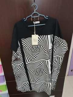 BN 6XL Short Sleeve plus size dress