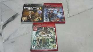 PS3 Unchartered 1 2 and 3