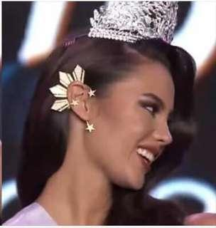 COD Catriona Gray Inspired Ear Cuff Miss Universe Earrings Three Stars and The Sun Alab Dangal