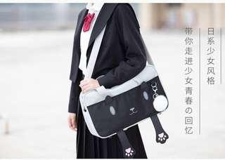 Cute neko japanese school bag