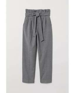 H&M grey paperbag trousers BN