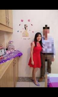 Striking red dress #MMAR18 (U.P. RM18)