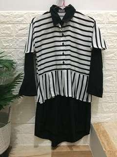 Tunic black n white