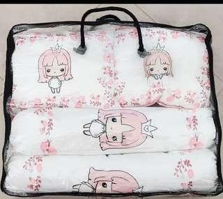 BNIB bedding set for baby cribs princess theme